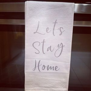 Let's stay home towel 🖤